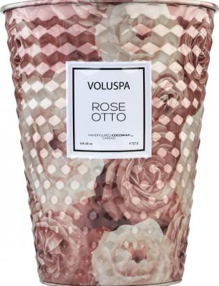 bougie cone parfumée rose Otto
